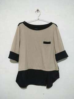 💕DARK CREAM GIRL SHIRT/TEE (Baju Wanita)