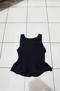 Peplum Black