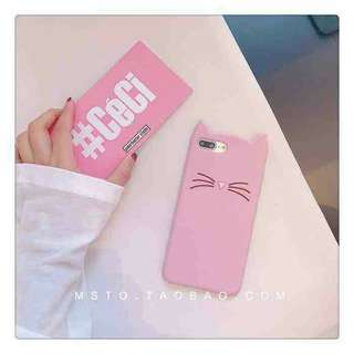 New available cute cat case💞💞💞 P150 ONLY iPhone 5/5s/6/6p/7p/8p Color black and pink