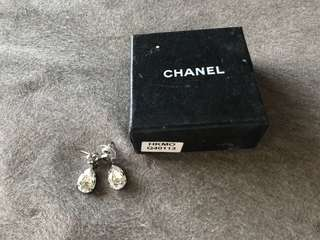 Chanel rhinestones earrings 水滴造型閃石耳環