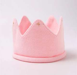 Daisy Belle Dreams / Knitted Baby Crown (Pink)