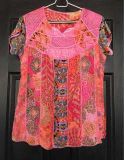 🌈Pre-loved Colorful Blouse