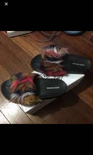 Original Steve Madden Furry Slides