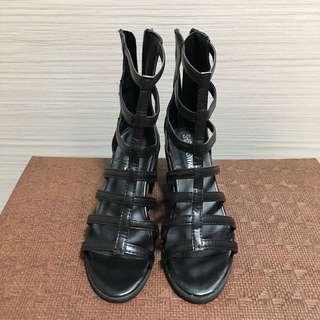 🚚 黑色羅馬鞋 底跟羅馬鞋 Major類私款