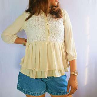 Vintage top with lace details