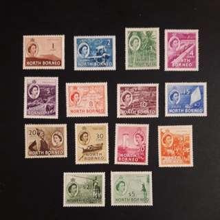North Borneo 1954 stamps