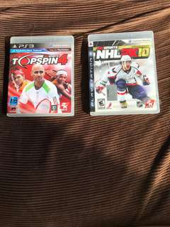 PS3 Games Top Spin NHL