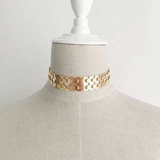 Gold Mirror Scale Choker