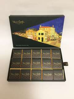 Van Gogh Art de Sweets Holland Belgium chocolate thins 15pcs / 75gm, 全新, The Yellow House, product of Belgium, expiry date 10/2019, 原價$240