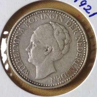 1921 Nederlands 1/2G coin