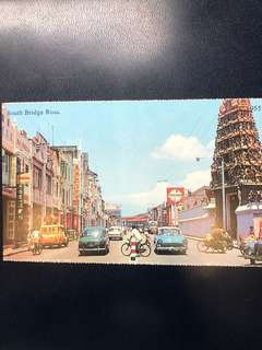 Singapore Old Postcard Collection (Reproduction): Scene of 1955 South Bridge Road