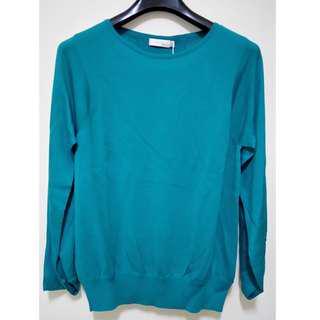 🚚 全新G2000藍綠色長袖針織上衣 40號