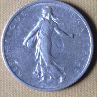 1917 France 1 Franc coin.