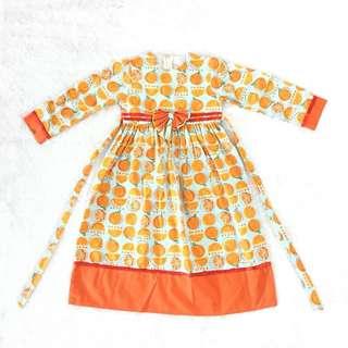 Baju muslim anak orange
