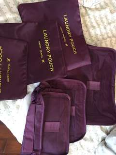6 pieces pouch laundry travel(free shipping included)
