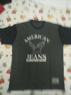 Kaos american jeans abu abu