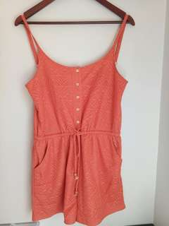 Pink Playsuit with pockets