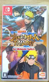 Nintendo Switch Game~~ NARUTO SHIPPUDEN TRILOGY *3 GAMES In 1* ( Japanese Version). 100% WORKING GAME & TESTED!!!.  ** PLEASE REPLY IN ENGLISH!!! 🤗 **