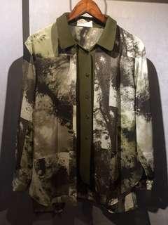 🚚 GV 古著 森林 復古襯衫