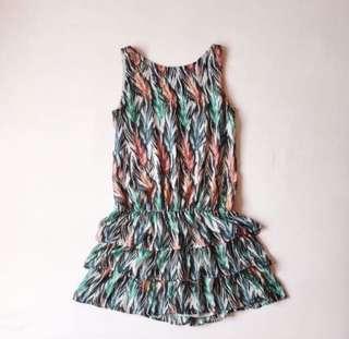 Mango Dress / Bottom Frill Dress / Ruffel Dress