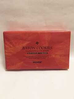 Royce Baton cookies, hazelnuts & cacao nibs 25pcs, 果仁曲奇禮盒連原裝袋,全新,best before 16/9/2018