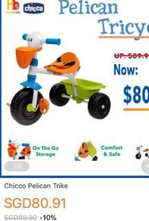 Used Chicco pelican trike