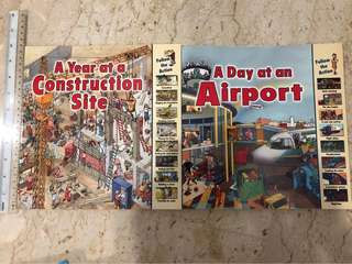 A year at the construction site/ A day at the airport
