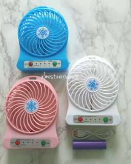 Mini Portable Rechargeable Fan (BNIB) *Blue and White Available*