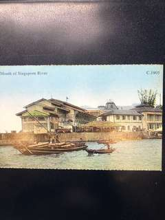 Singapore Old Postcard Collection (Reproduction): Scene of 1905 Mount of Singapore River