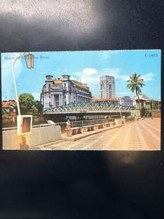 Singapore Old Postcard Collection (Reproduction): Scene of 1955 Mount of Singapore River