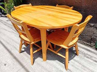 Pine Wood Dining Set