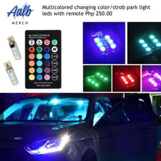 Multicolored changing park light/stob with remote