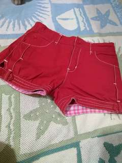BIG AND SMALL RED SHORTS