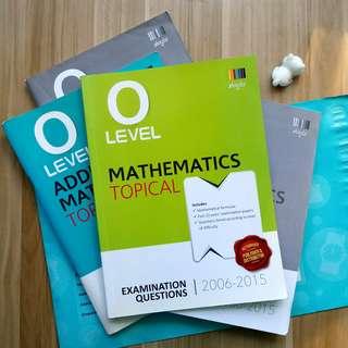 Shinglee O Level Topical Mathematics & Additional Mathematics (2006-2015)