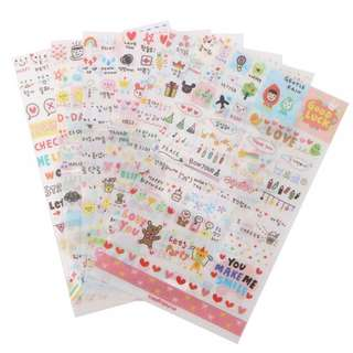 Cute Diary Girl Stickers