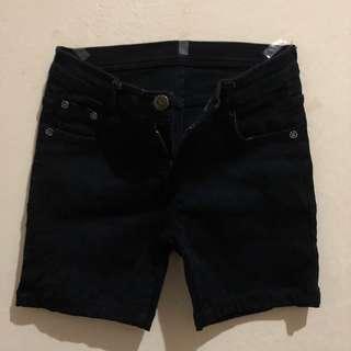 Hotpants Celana Pendek Jeans Hitam