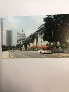 Singapore Old Postcard Collection (Reproduction): Scene of  1994 Esplanade (Padang)