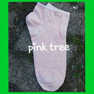 Kaos kaki tumit polos warna pink soft
