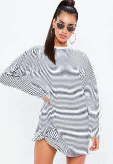 NWT Missguided oversized stripe sweater dress