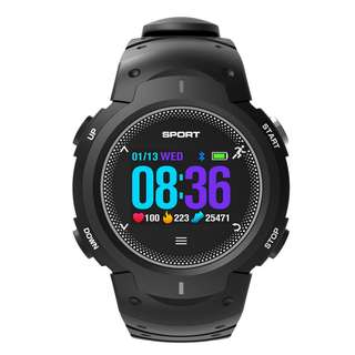 NO.1 F13 Smartwatch - Bluetooth 4.0, Heart Rate, Pedometer, Sedentary Reminder, Sleep Monitor, IP68 Waterproof (Gray) Or (Green) Or (Red) (CVAFP-W107)