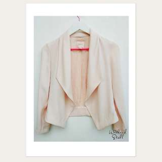 Baby Pink Cropped Blazer