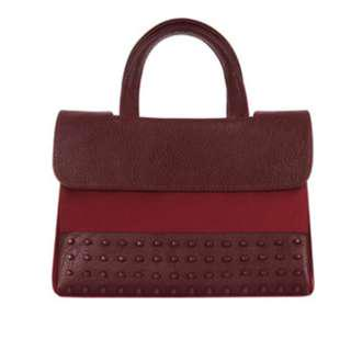 **AUTHENTIC** KWANI [콰니] [THE HN] Burgundy Micro Studs - 9.9/10 Condition comes with Free BN Ethnic Webbing Strap