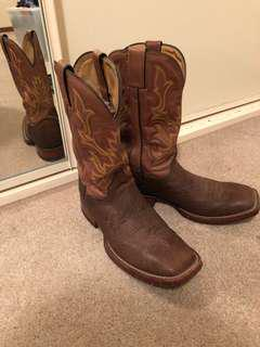 Genuine leather cowboy boots SIZE 11