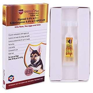 Parashield Plus Fleas and Ticks Control Treatment for Dogs (20 to 40 kg) Pack of 3