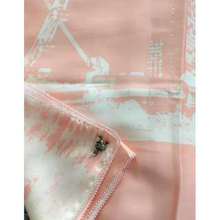 INSPIRED SINGAPORE EDITION PEACH SATIN SHAWL (RM25 FREE POSTAGE)