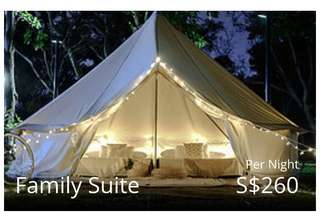 Two days one night Glamping Stay family suite