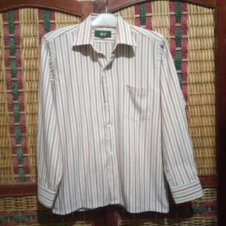 Camalon Kemeja Formal Stripes Garis Pria Size L not Flannel