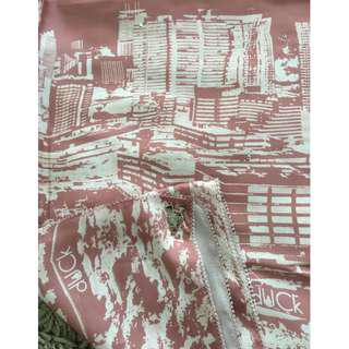 INSPIRED KLCC EDITION DUSTY PINK SATIN SHAWL (RM25 FREE POSTAGE)