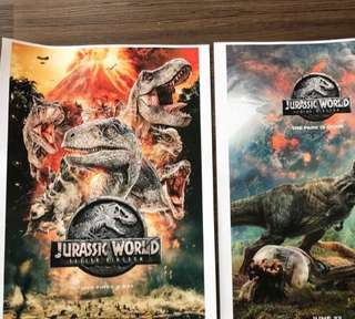 🚚 Brand New Jurassic World A3 posters