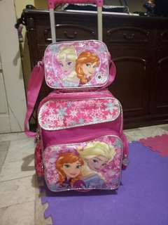 preloved trolley bag (frozen character)